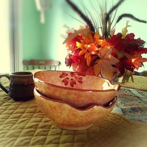 Made in Italy Ceramic Decor Asymmetrical Bowl Soup